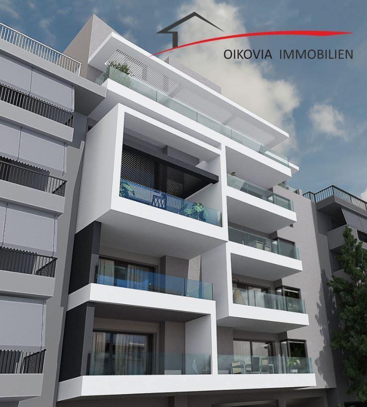 Geräumige, luxuriöse, neubau Wohnung in Argyroupolis
