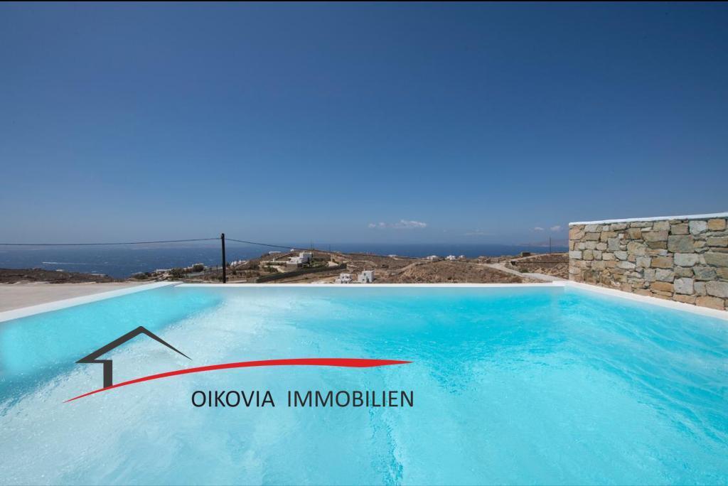 Kykladen, Mykonos: Villa Joy ist eine neue zweistöckiges Eck-Haus in der Gegend von Fanari